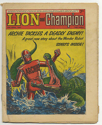 Lion 15th Apr 1967 (mid-high grade) Robot Archie, The Spider, Don Lawrence art