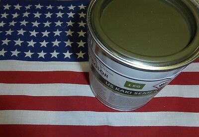 Pot 1 kg peinture US kaki semi-mat 1944 Jeep Dodge Gmc Harley Scout Half Willys