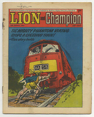 Lion 18th Mar 1967 (very high grade) The Spider, Robot Archie & Don Lawrence art