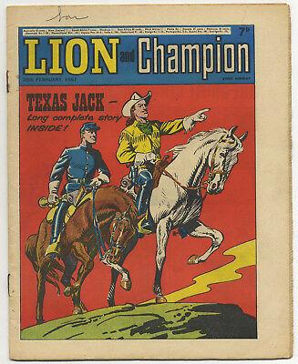 Lion 25th Feb 1967 (near top grade) The Spider, Robot Archie & Don Lawrence art