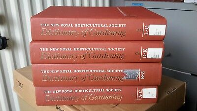 4 Big Heavy Volumes. The New RHS Dictionary of Gardening  1992