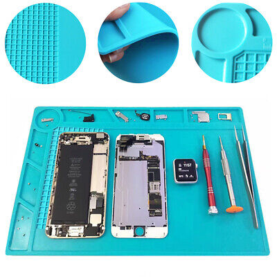 Magnetic Heat Insulation Silicone Pad Soldering Cell Phone Repair Platform Mat