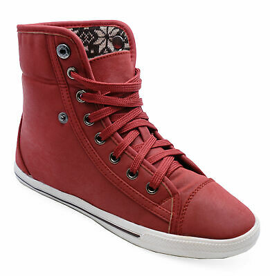 super cheap most popular buy popular WOMENS BEIGE LACE-UP Hi-Top Floral Baseball Boots Hi-Top ...