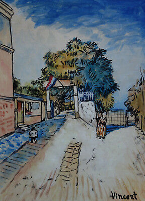 Fine Post-Impressionist rare oil painting, signed, Vincent van Gogh with COA