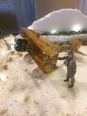 SHINER BOCK Lager Texas AIRPLANE Made from REAL Beer can Neon Sign Cool PLANE