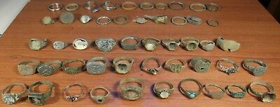 Metal detector finds.Mix lot  ancient Rings  (The age of 12-19) 50 pieces.