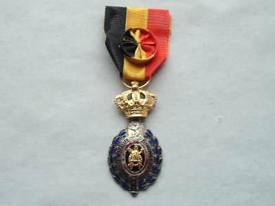 Old Wwi Ww1 Belgium Belgian Industry & Agriculture 1St Class Medal Badge Ribbon