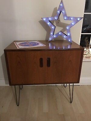 G Plan Fresco Teak Sideboard Record Cabinet Hairpin Legs Delivery Available