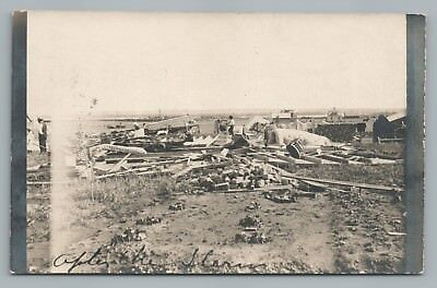"""After the Storm"" Williston ND Rare RPPC Photo FH Smith—Tornado Disaster 1910s"