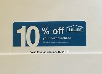 1 Lowe's Blue Card 10% Off For Home Depot + Other Comp Not Lowe's Exp 01/15/19
