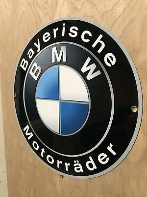 Bmw Motorcycle Bayeriche Motoradder Garage Sign Reproduction