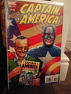 The Stan Lee Box Exclusive Captain America #695 Marvel