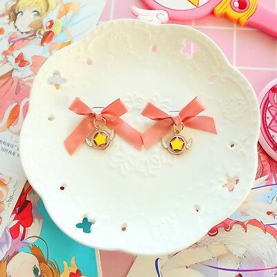 Cute Card Captor Sakura Ribbon Hair Pin/ Brooch