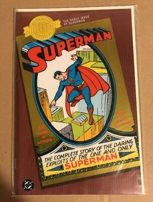 DC MILLENNIUM EDITION: SUPERMAN #1 (2000) NM Chromium Cover. Bagged & Boarded