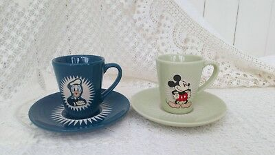 Mickey Mouse & Donald Duck Collectable Cup And Saucer Set Disney Store Excusive
