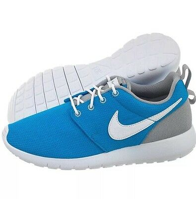 new style 2702b 29c37 Nike Roshe One Run Sz 7Y GS Youth Kids Blue Grey White Shoes Sneaker 599728-
