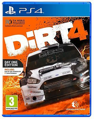 Dirt 4 Ps4 Edizione Day One Edition Nuovo Sigillato Italiano Rally Corse Sony