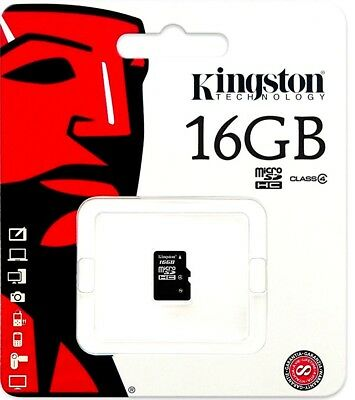 Kingston Micro SD 16GB SDHC Memory Card Microsd TF Samsung Mobile Phone Class 4