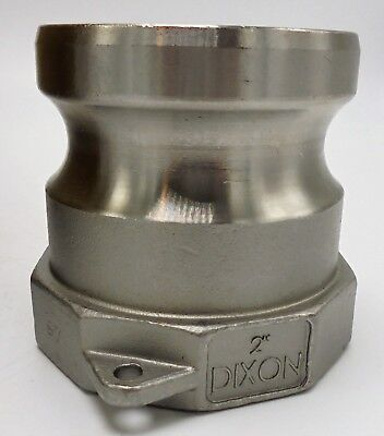 """Dixon 200-A-Ss 316 Stainless Steel Type A Adapter, 2"""""""
