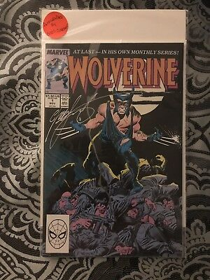 1988 Wolverine #1 Signed By Chris Claremont