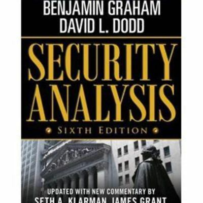 |e-Version| Security Analysis 6th Ed by Graham et al.