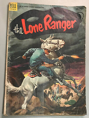 Lone Ranger #60 Dell Publishing 1953 Tonto - Silver