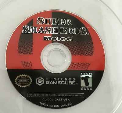 Super Smash Bros. Melee (Nintendo GameCube, 2001) - US Version game disc only.