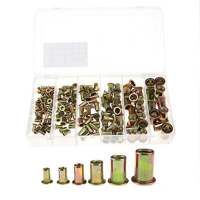 150Pcs/Set  Rivet nuts Blind rivet nuts Rivet nuts Zinc Plated Assortment Tool