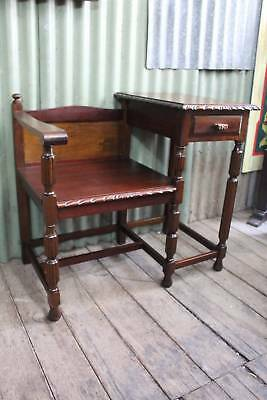 A Jacobean Blackwood Hall Stand with Seat - Ideal as Phone Table
