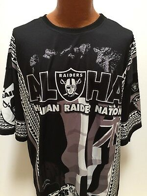 Hawaiian Raider Nation Aloha Chapter Football 3XL Jersey T-Shirt Oakland AFC