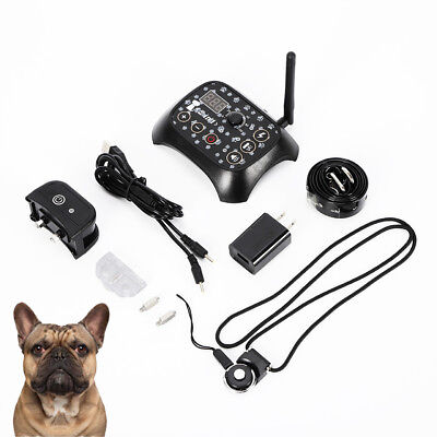 Wireless Pet Dog Fence Containment System Waterproof Electric Transmitter Collar