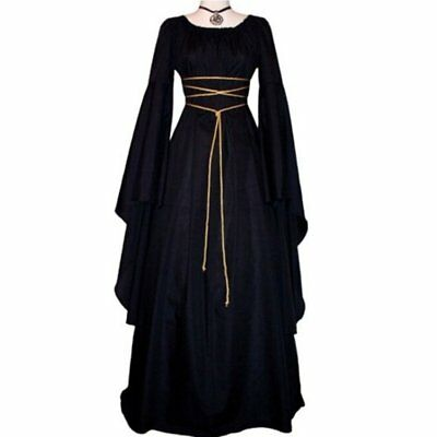 Women Cosplay Stage Solid Dress Female Party  Halloween Dress Medieval Costume