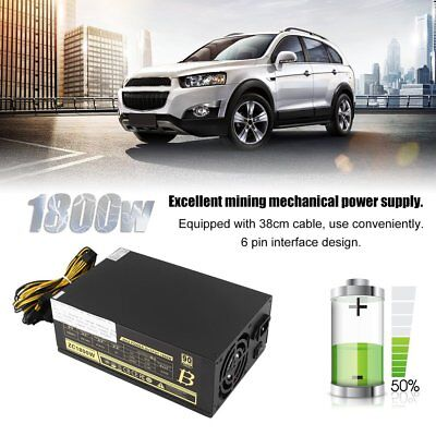 1800W Miner Mining Dedicated Power Supply 6Pin For BTB S5 S7 S9 A6 A7 L3 R4