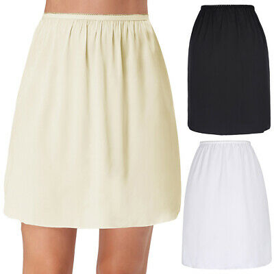 High Undergarment Slip Retro Skirt Half Satin Waist Static Anti Short Ladies