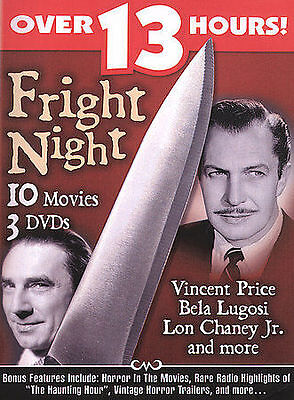 Fright Night [10 Movies On 3 DVDs] AMAZING DVD IN PERFECT CONDITION!DISC AND ORI