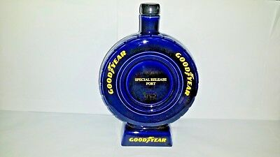 Collectable Goodyear Tyre Blue Ceramic Special Release Port Bottle