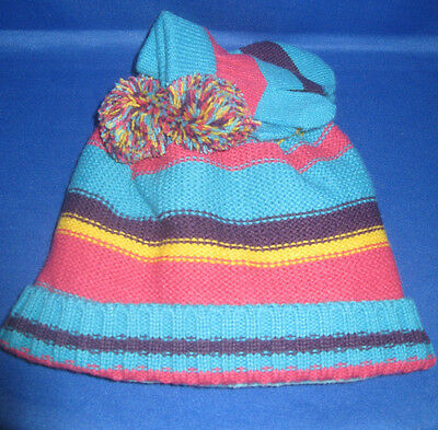 Toddler Knit Aardvark Tassel Hat & Mittens  12 To 24 Months,  New