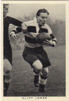 Wills Rugby Card. Cliff Jones  (Cardiff & Wales)