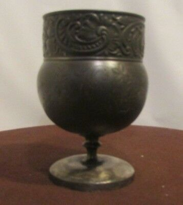 Antique Silver Plated Wine Goblet with makers marks in good condition C