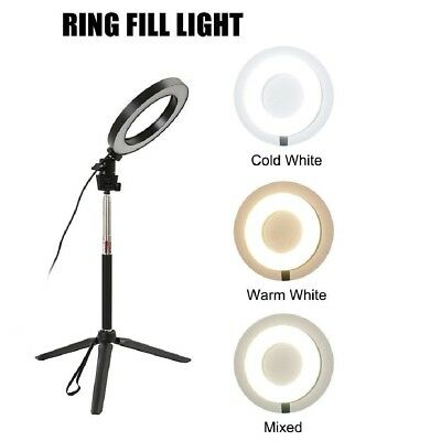 40W 5500K 3 Modes Studio Camera Dimmable LED Ring Light Photo Phone Video