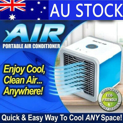 AU NEW Portable Mini Air Conditioner Cool Cooling For Bedroom Cooler Fan 2019