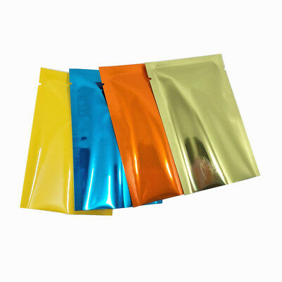 Mylar Heat Seal Vacuum Aluminum Foil Bags Smell Proof Glossy Colorful Food Packs