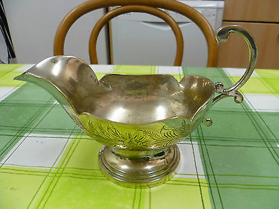 Vintage, Floral Patterned, Silver Plated Sauce Boat, Silver Plated Gravy Boat