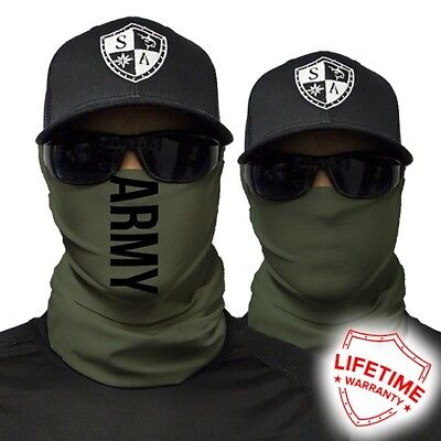 Bandana Schal Halstuch Maske 40 Motive  FACESHIELD SHOP SA COMPANY ARMY GREEN