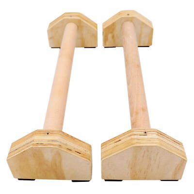 Holz Parallettes, low & medium Minibarren Handstand Barren aus Buchenholz,