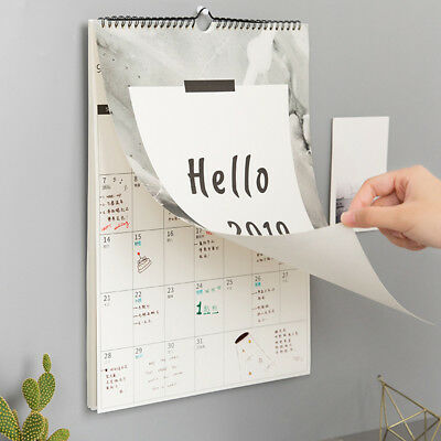 2019 Wall Calendar Simple Nordic Style Yearly Agenda Office Daily Planner Home