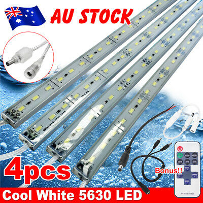 4X Cool White 5630 Led Strip Lights Bars 12V Waterproof Camping Boat Car+ Remote