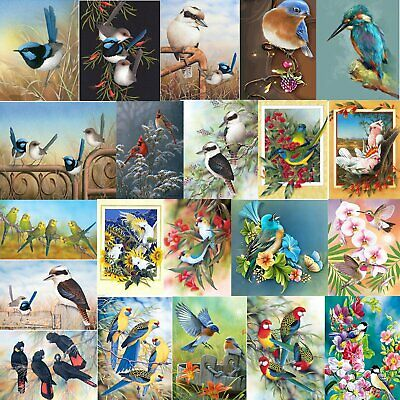 Bird Animal Full Drill 5D DIY Diamond Painting Cross Stitch Embroidery+Tool S4