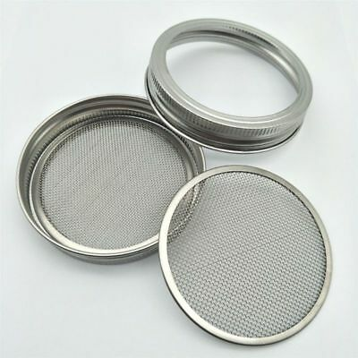 Sprouter Seed Sprouting Jars  Mason Stainless Steel Strainer Lids Germinator Set