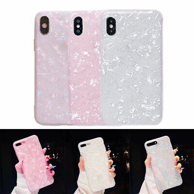 For iPhone 8 7 6 Plus X Luxury Marble Shockproof Silicone Protect Case Cover KU